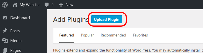 Klik Tombol Upload Plugin